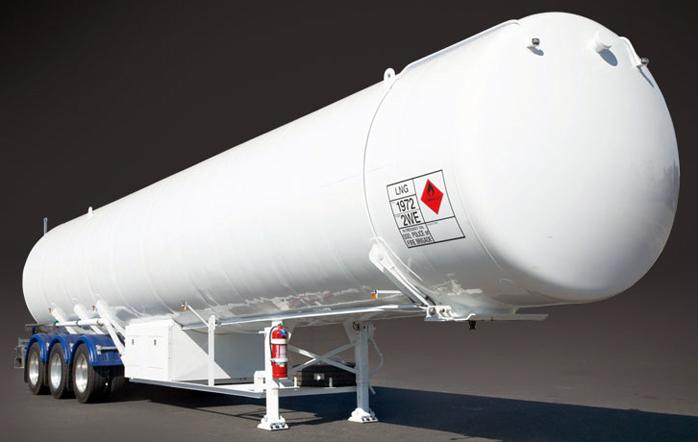 Цистерна для перевозки СПГ автомобильным транспортом
