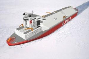 судно-газовоз для перевозки сжиженного природного газа - СПГ-танкер