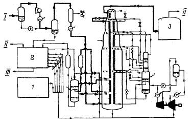 Схема установки сжижения с ОКЦ (патент США № 3593535)