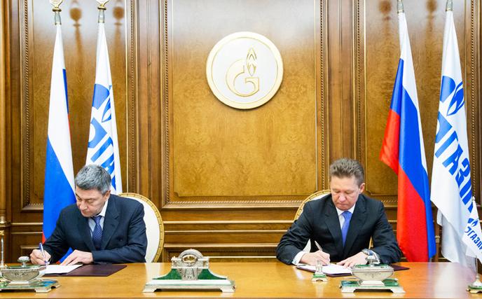 Председатель ПравленияОАО«Газпром» Алексей МиллериПредседатель ПравленияОАО «Газпромбанк»Андрей Акимов