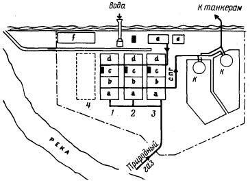 Схема расположения заводов СНГ в Скигде (Алжир)