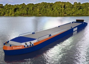 Ecoliner - концепт речного судна на СПГ (Damen Shipyards и QaGroup)