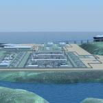 3D макет завода по сжижению газа - проект СПГ Владивосток