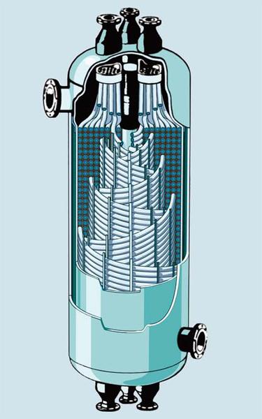 Теплообменник газ вода Кожухотрубный конденсатор ONDA C 41.301.2400 Сыктывкар