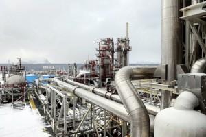 Завод по производству СПГ в Хаммерфесте (Северная Норвегия)