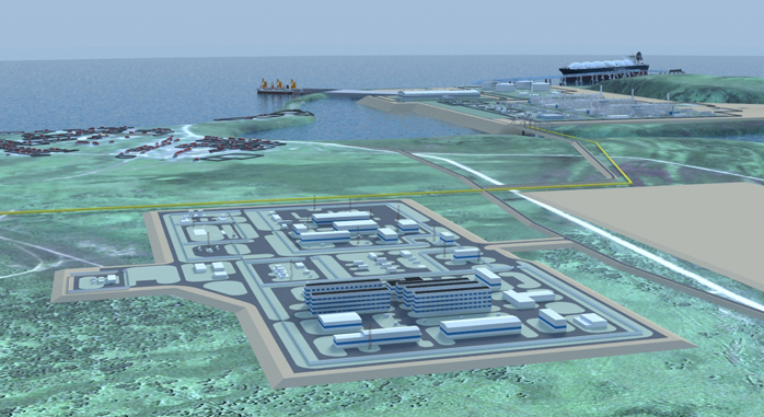 3D-модель проекта «Владивосток-СПГ»